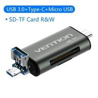 Vention USB 3.0 Type-C Картридер OTG